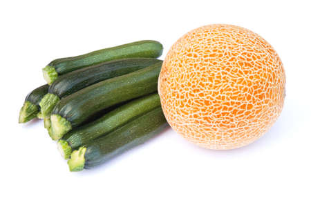 squash vegetable: Squash - vegetable & fruit in contrasting shapes and colors