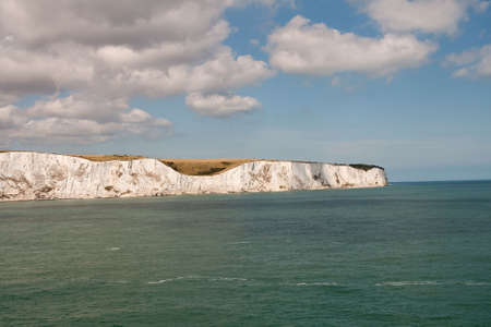 Headland of White Cliffs of Dover where the Channel turns up to the North Sea