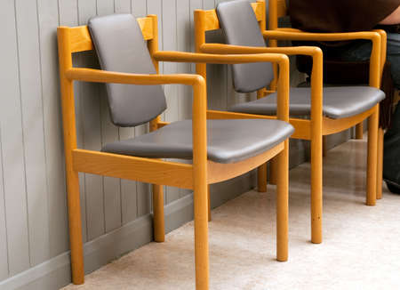 two empty chairs in a hospital waiting room Stock Photo - 5851655