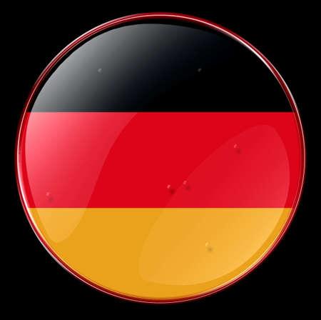 deutschland fahne: Deutschland Fahne Button