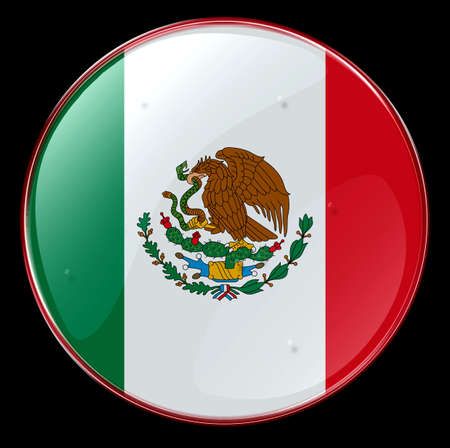 Flag Button Mexico photo