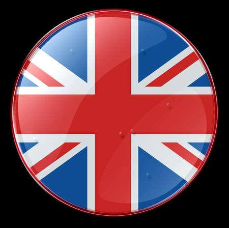 bandera de reino unido: Reino Unido Bandera bot�n