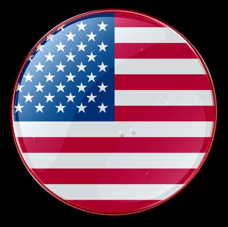 US Flag Button photo