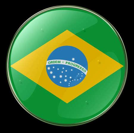 Brazil Flag Button photo