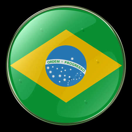 Brazil Flag Button photo