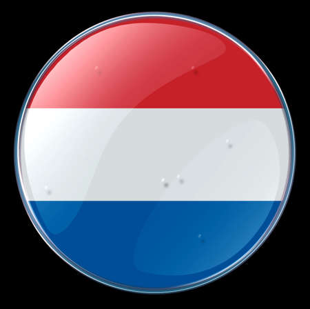 Netherlands Flag Button photo