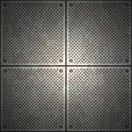 grid: Texture di metallo  Archivio Fotografico