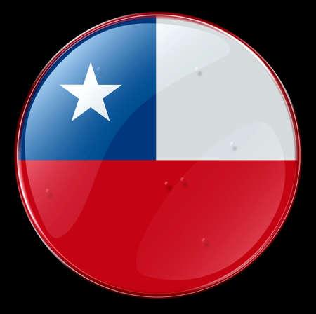 bandera chile: Chile Bandera bot�n