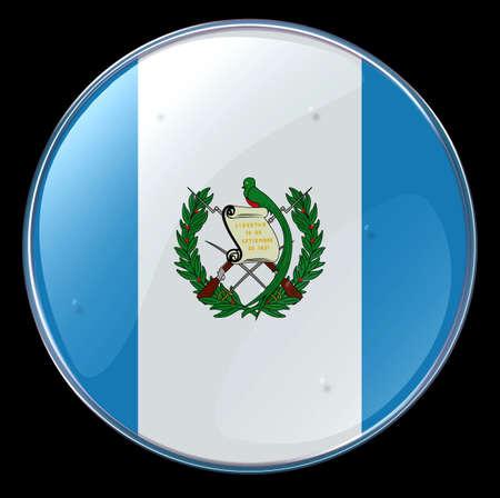 Guatemala Flag Button photo