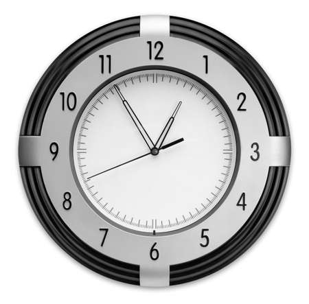 Wall Clock, isolated on white background Stock Photo - 3936110