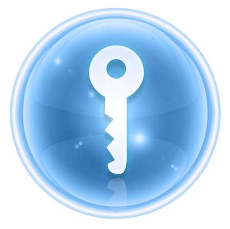 Key icon ice, isolated on white background Stock Photo - 4536982