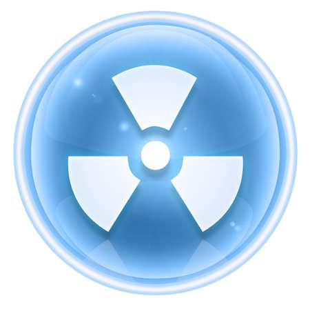 Radioactive icon ice, isolated on white background. photo