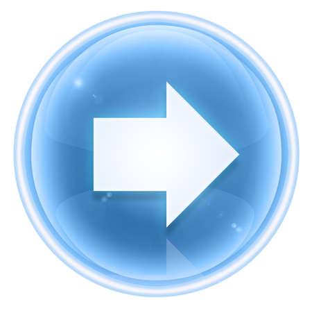 arrow right icon: Arrow right icon ice, isolated on white background. Stock Photo