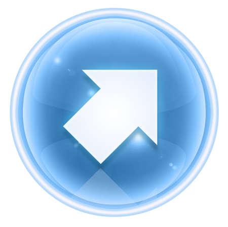 upward movements: Arrow icon ice, isolated on white background. Stock Photo