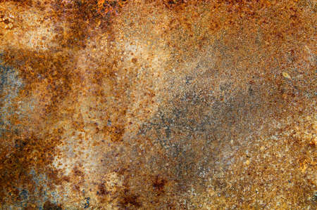 strongly: strongly rusty metal plate Stock Photo