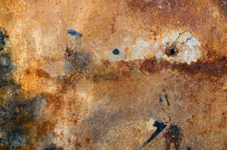 strongly rusty metal plate photo