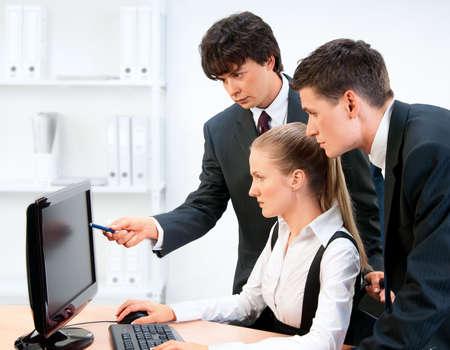 Business Gruppe Portrait.  Standard-Bild
