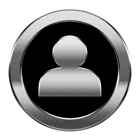 User icon silver, isolated on white background photo