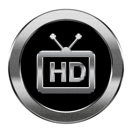 programm: HD icon silver, isolated on white background.