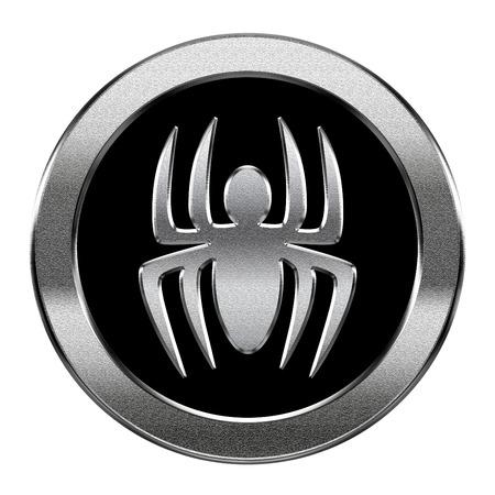 virus icon: Virus icon silver, isolated on white background