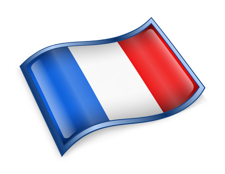 french ethnicity: France Flag Icon, isolated on white background
