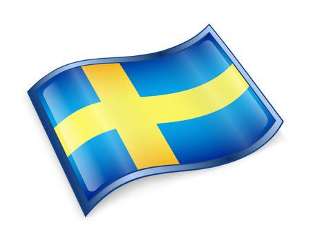 aqua icon: Sweden Flag Icon, isolated on white background  Stock Photo