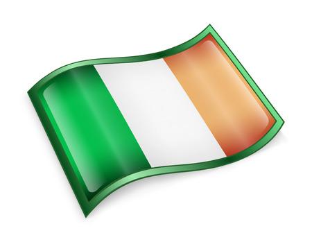 eire: Ireland Flag Icon, isolated on white background  Stock Photo