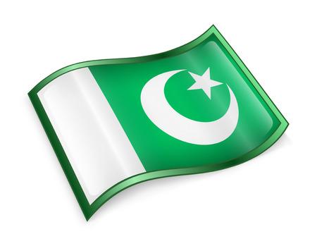 pakistan flag: Pakistan Flag Icon, isolated on white background. Stock Photo