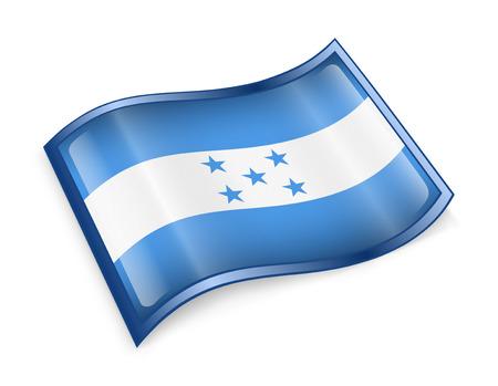 bandera honduras: Bandera de Honduras icono, aislado en fondo blanco.