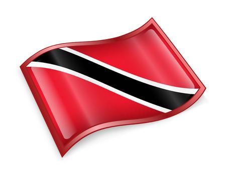 trinidadian: Trinidad and Tobago Flag icon, isolated on white background. Stock Photo