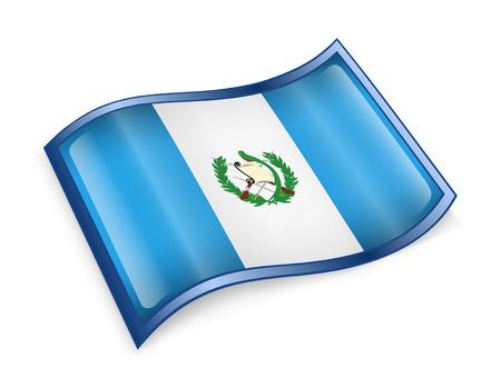 Guatemala Flag icon, isolated on white background. photo