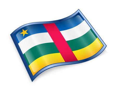 central african republic: Central African Republic Flag icon, isolated on white background.