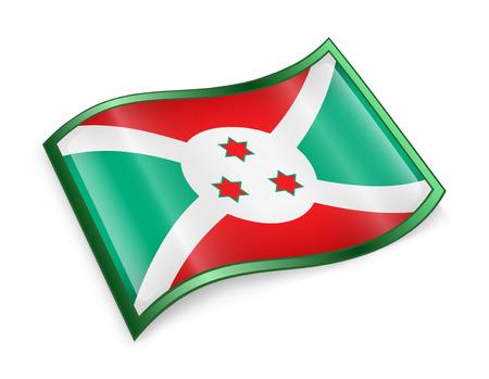 burundi: Burundi Flag icon, isolated on white background.