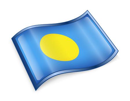 Palau Flag icon, isolated on white background. photo