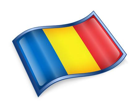 chadian: Chadian Flag icon, isolated on white background.