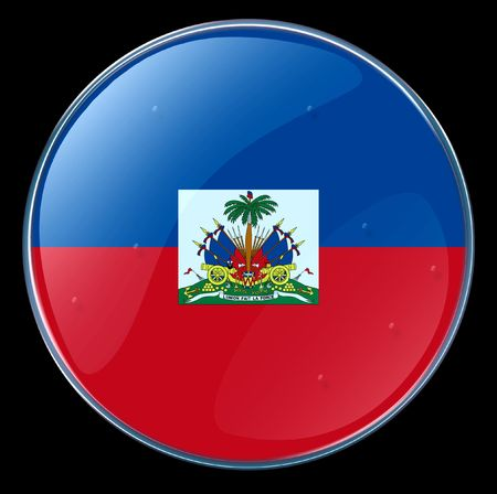 port au prince: Hait� bandera bot�n. (Con Clipping Path)  Foto de archivo
