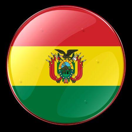 bandera de bolivia: Bolivia Bandera bot�n. (Con Clipping Path)
