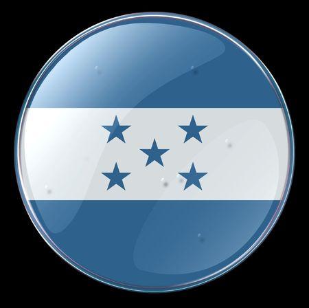 bandera honduras: Honduras Flag bot�n. (Con Clipping Path)
