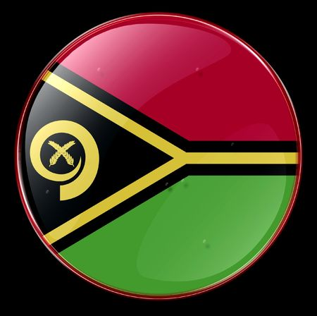 vanuatu: Vanuatu Flag Button. (With Clipping Path)