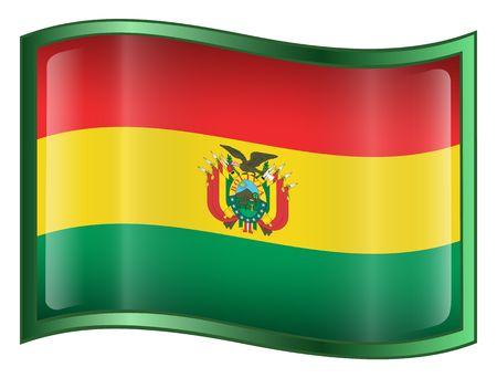 bandera de bolivia: Bolivia bandera icono. (Con Clipping Path)