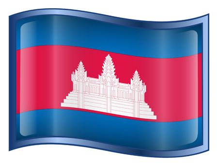 asean: Cambodia Flag icon. (With Clipping Path)