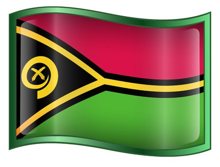 vanuatu: Vanuatu Flag icon. (With Clipping Path)