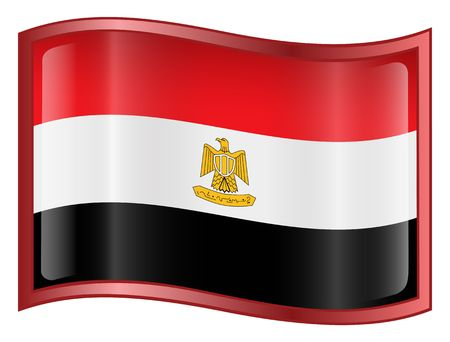 egypt flag: Egypt Flag icon. (With Clipping Path)