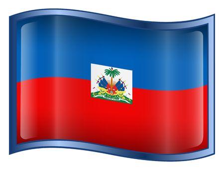 haiti: Haiti Flag Icon. (With Clipping Path)