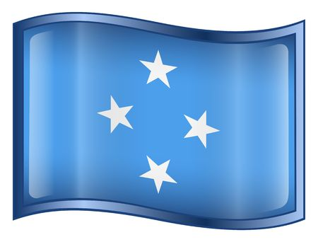 micronesia: Micronesia Flag icon. (With Clipping Path)