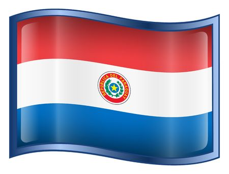 Paraguay flag: Paraguay bandera icono. (Con Clipping Path)