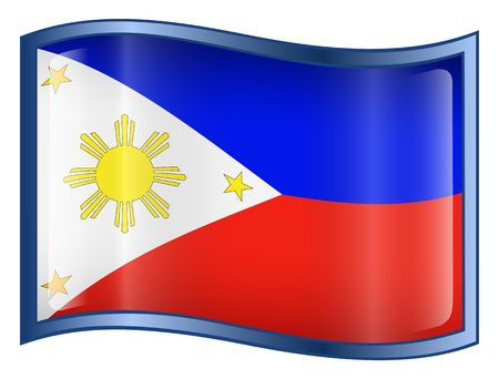 asean: Philippines Flag Icon. (With Clipping Path)