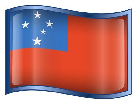 samoa: Samoa Flag icon. (With Clipping Path) Stock Photo
