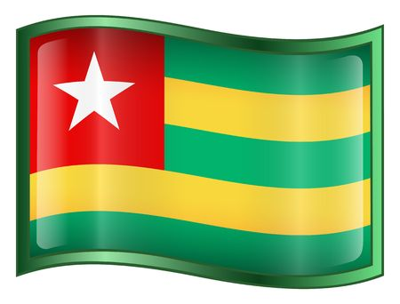 togo: Togo Flag Icon. (With Clipping Path)