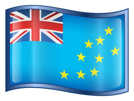 tuvalu: Tuvalu Flag icon. (With Clipping Path)